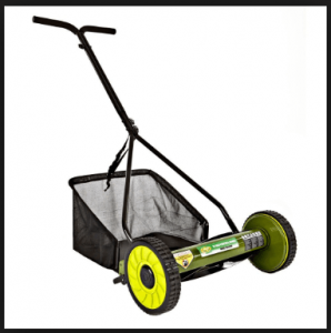Sun Joe MJ500M Manual Reel Mower W Grass Catcher