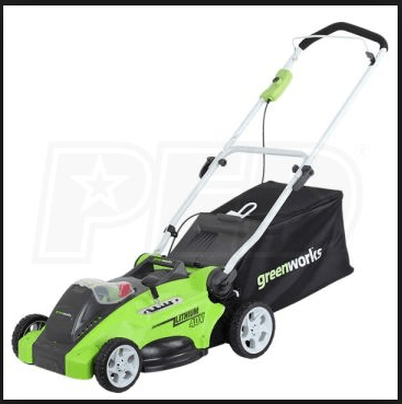 GreenWorks 16-inch, 40v, Cordless Lawn Mower, 4.0 AH, Battery Included 25322